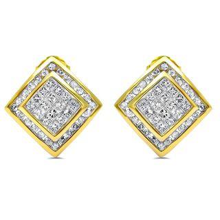 Noori 14k Gold 2ct TDW Princess-cut Diamond Earrings