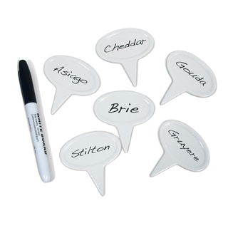 Epicureanist White Ceramic Cheese 18-piece Markers