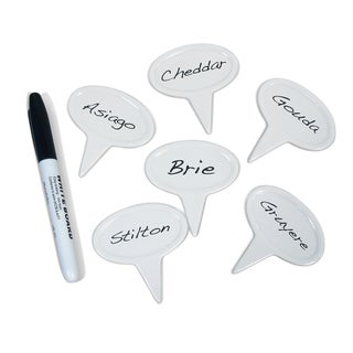 Epicureanist White Ceramic Cheese 12-piece Markers