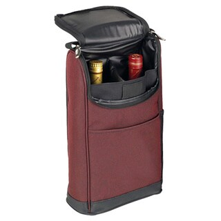 Goodhope Burgundy Padded Dual Soft Side Red/White Protective Wine Bottle Beverage Case