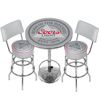 Coors Light Game Room Combo - 2 Stools w/Back & Table|https://ak1.ostkcdn.com/images/products/13179888/P19902643.jpg?impolicy=medium
