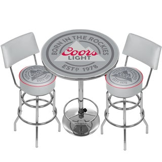 Coors Light Game Room Combo - 2 Stools w/Back & Table