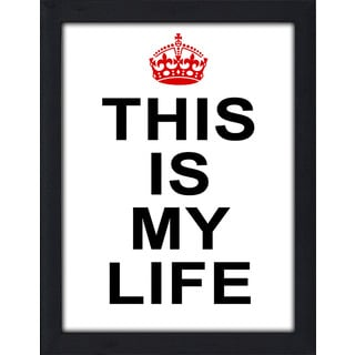 Framed Canvas Art Studio This is My Life Framed Plexiglass Wall Art