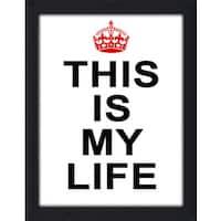 Framed Canvas Art Studio This is My Life Framed Plexiglass Wall Art