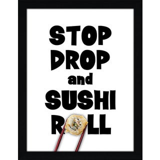 Framed Canvas Art Studio Stop, Drop, Sushi Roll Framed Plexiglass Wall Art