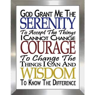 Framed Canvas Art Studio Serenity Prayer Framed Plexiglass Wall Art