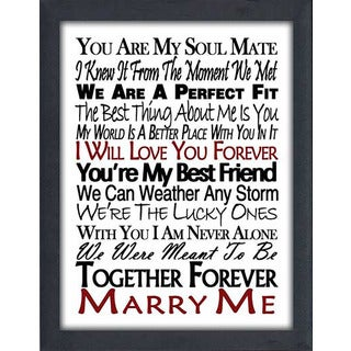 "FramedCanvasArt Studio ""Marry Me"" Framed Wall Art"