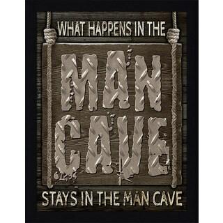 Framed Canvas Art Studio Man Cave Rules III Framed Plexiglass Wall Art (3 options available)