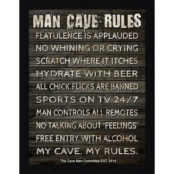 Framed Canvas Art Studio Man Cave Rules I Framed Plexiglass Wall Art