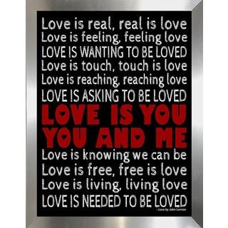 "FramedCanvasArt Studio ""Love"" Framed Wall Art"