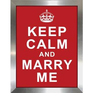 "FramedCanvasArt Studio ""Keep Calm and Marry Me"" Framed Wall Art"