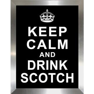 Framed Canvas Art Studio Keep Calm and Drink Scotch Framed Plexiglass Wall Art
