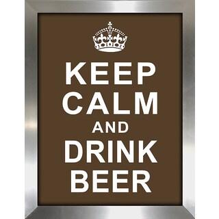 Framed Canvas Art Studio Keep Calm and Drink Beer Framed Plexiglass Wall Art