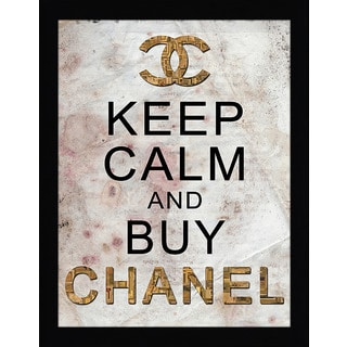 "FramedCanvasArt Studio ""Keep Calm & Buy Chanel"" Framed Wall Art"
