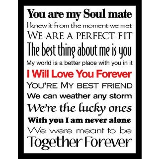 "FramedCanvasArt Studio ""I Will Love You Forever II"" Framed Wall Art"