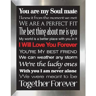 "FramedCanvasArt Studio ""I Will Love You Forever"" Framed Wall Art"