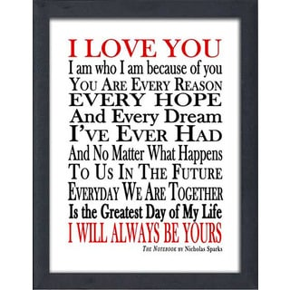 "FramedCanvasArt Studio ""I Will Always Be Yours"" Framed Wall Art"