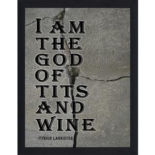 "FramedCanvasArt Studio ""I Am The God"" Framed Wall Art"