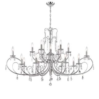 World Imports Kothari Collection 18-Light Chrome Chandelier