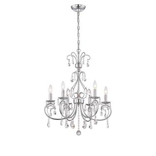 World Imports Kothari Collection 6-Light Chrome Chandelier