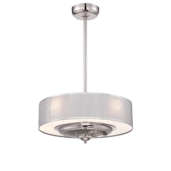World Imports Cozette Collection 24 Inch Indoor Satin Nickel Ceiling Fan