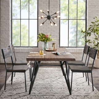 INK+IVY Tacoma Grey Dining Side Chair Set of 2