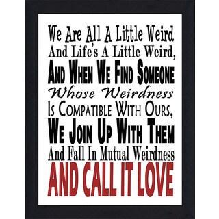 "FramedCanvasArt Studio ""Call It Love"" Framed Wall Art"