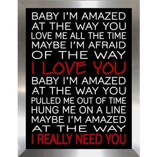 "FramedCanvasArt Studio ""Baby Im Amazed"" Framed Wall Art"