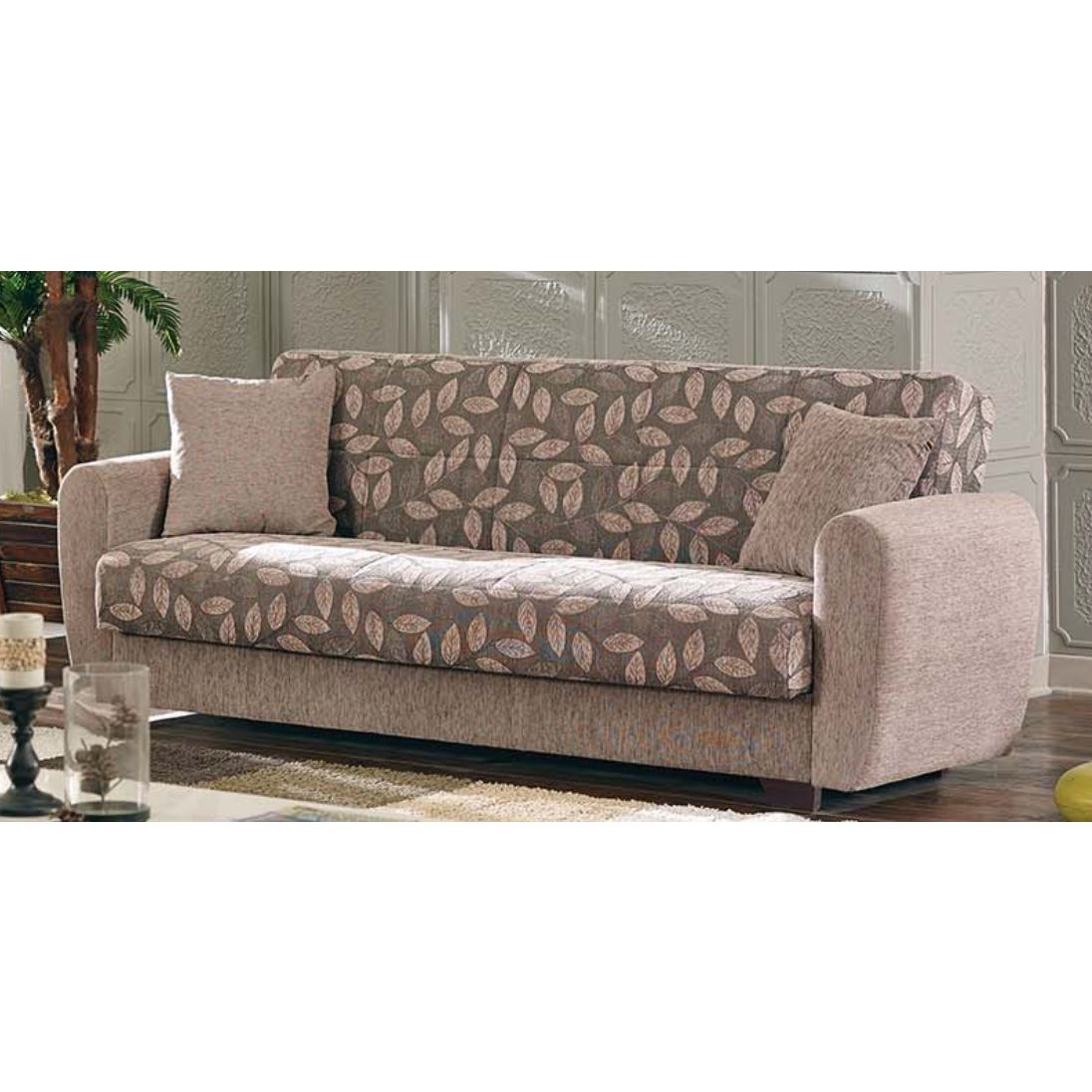 Chestnut Convertible Sofa Bed, Brown