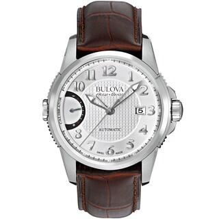 Bulova Mens 63B171 Leather Brown Accu Swiss Watch