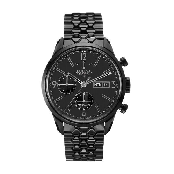 Bulova Men's Black Stainless Steel Automatic Watch