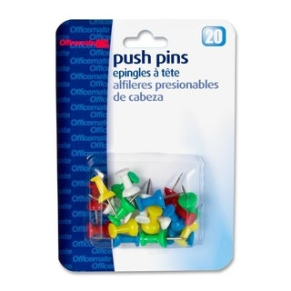 OIC Plastic Precision Push Pins - (20/Pack)