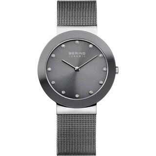 Bering Grey Stainless Steel/Mesh Women's Quartz Watch