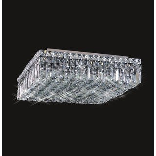 Maxim Collection 8013X-2814 Silver Chrome-finish Steel/Crystal 16-light Flush Mount