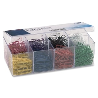 OIC PVC-free Color-Coated Paper Clips - (800/Box)