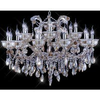 Tiffany-style Collection K100355D-3724 Goldtone Crystal Candelabra Chandelier - Honey