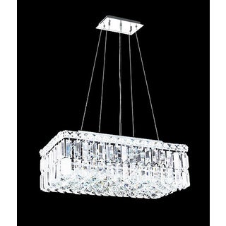 Maxim Collection Crystal Steel 16-light Chandelier
