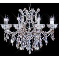 Tiffany-style Collection Goldtone Steel/Crystal Chandelier - Honey