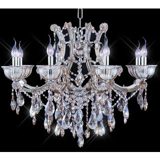 Tiffany-style Collection 8-light Crystal Chandelier