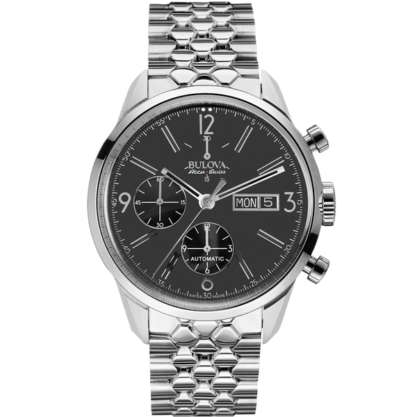 Bulova Men's Stainless Steel Silver Automatic Watch