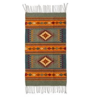 Mexican Valley of Light Zapotec Wool Rug (2' x 3.5')