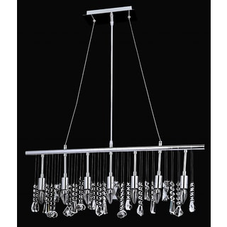 Chorus Line Collection 8015-300640L7 Chrome-finish Steel/Crystal 7-light Chandelier