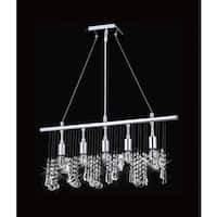 Chorus Line Collection 8015-240640L5 Chrome Steel and Crystal Chandelier