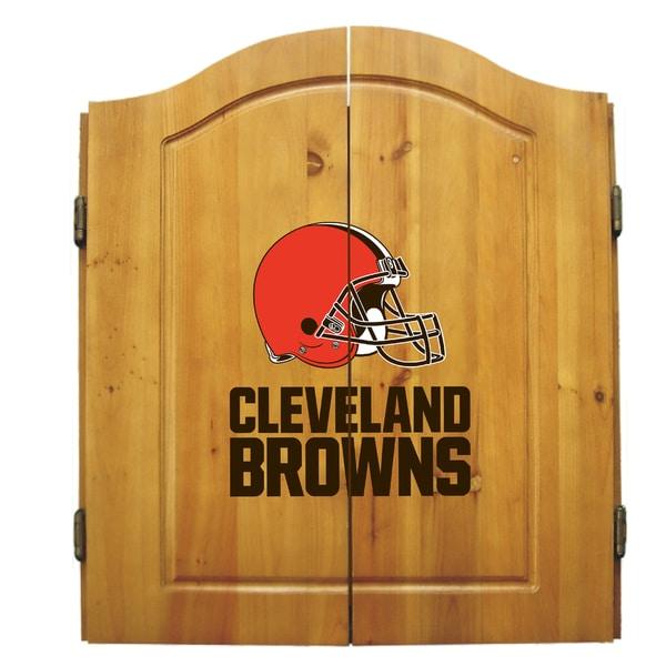 Cleveland Browns NFL Dart Cabinet