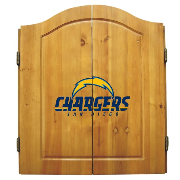 San Diego Chargers NFL Dart Cabinet