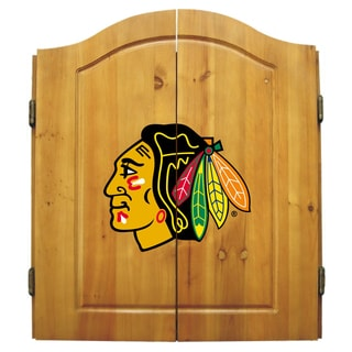 Chicago Blackhawks NHL Dart Cabinet
