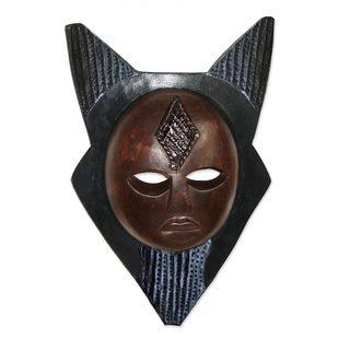 Lucky Star Ghanaian Wood Mask (West Africa)