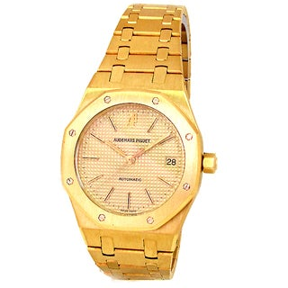 Pre-owned 36 mm Audemar's Piguet 18k Yellow Gold Royal Oak Watch