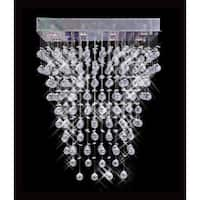 Galaxy Collection 8009-281636 Chrome Steel and Crystal 10-light Chandelier