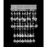 Galaxy Collection 8009-160824 Crystal/Steel 4-light Chandelier With Chrome Finish